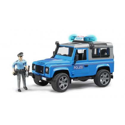 Bruder джип полицейский Land Rover Defender Station Wagon