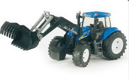 Bruder трактор New Holland T8040 с погрузчиком 03021