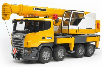 Bruder автокран Scania R-Series  LIEBHERR