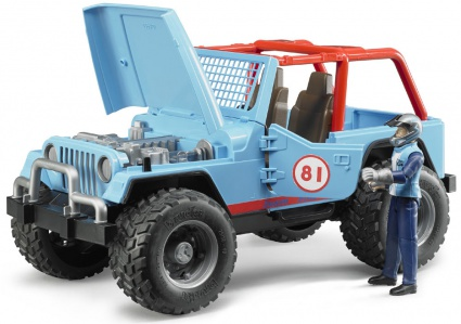 Bruder Jeep Cross country blue с водителем