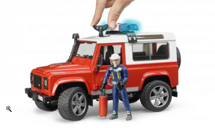 Bruder джип Land Rover Defender с пожарным
